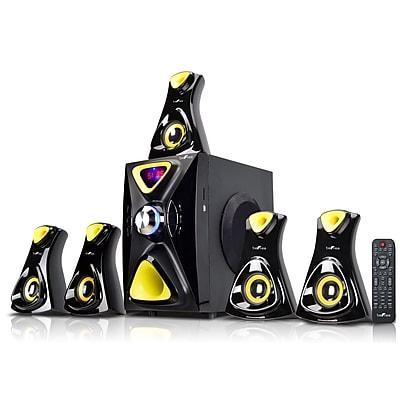BeFree Sound Bluetooth Speaker System; h7902, 100 W & 18 Wx5, 80 W & 18 Wx5, Yellow