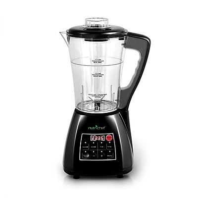 Nutrichef 3-in-1 Digital Electronic Soup CookerBlenderJuice Maker, Black (pksm240bk)