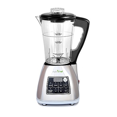 Nutrichef 3-in-1 Digital Electronic Soup Cooker Blender Juice Maker (pksm240ss)