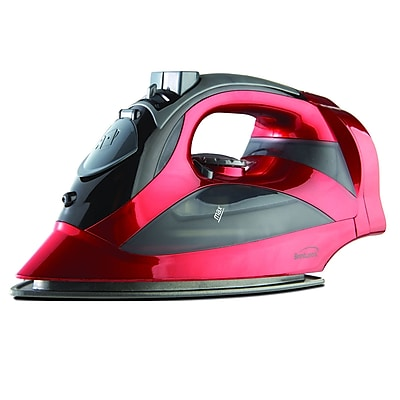 Brentwood Steam Iron with Retractable Cord; Red, 6/Pack (MPI-59R)