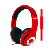 Naxa ne-943-red Over-Ear Headphones with Mic, Red
