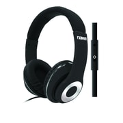 Naxa ne-943-black Over-Ear Headphones with Mic, Black