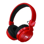 Naxa ne-942-red Stereo Over-Ear Headphones with Mic; Red