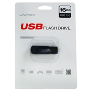 Unirex 16GB USB 2.0 Flash Drive, Black (usfw-216s)