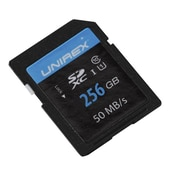 Unirex uss-256s Memory Card, Class 10 (UHS-1), 256GB, SDHC