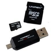 Unirex Memory MicroSD 4GB Class 4 w/SD Adapter MSW-042S