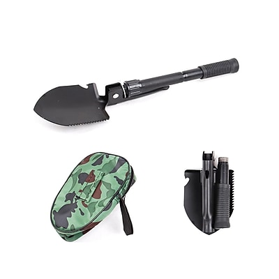 Pyle Compact Folding Tactical Utility Shovel; Black (Phmdsh11)