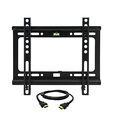 MegaMounts Fixed-Wall TV Mount with HDMI Cable, 60 lbs. (gmpf22-hdmi-bndl)