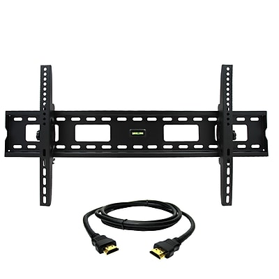 MegaMounts Tilt Wall TV Mount with HDMI Cable, 220 lbs. (gmpt1248-hdmi-bndl)