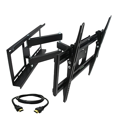 MegaMounts Full-Motion Wall TV Mount with HDMI Cable, 100 lbs. (gmw643-hdmi-bndl)