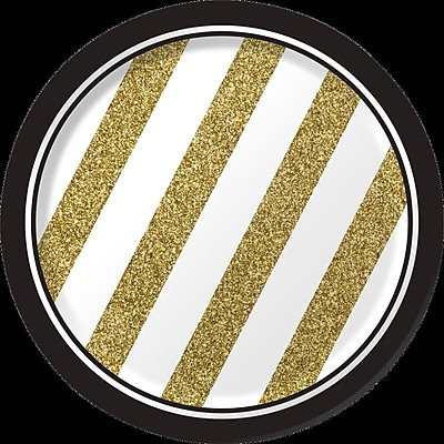 Creative Converting Black and Gold Dessert Plates