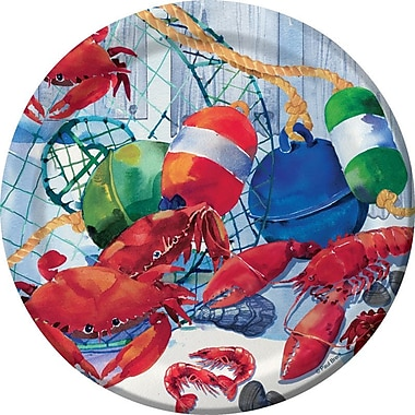 Creative Converting Seafood Celebration Dessert Plate (Set of 8)