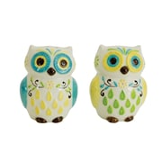 Boston Warehouse Trading Corp Floral Owl Salt and Pepper Shaker