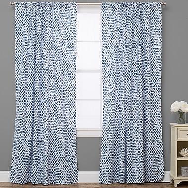 The Pillow Collection Pebble Geometric Semi-Sheer Rod Pocket Single Curtain Panel; 50'' W x 84'' L