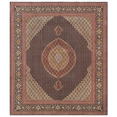 Pasargad Pasargad Tabriz Collection Hand-Knotted Silk & Wool Area Rug- 8' 3'' X 9' 10''