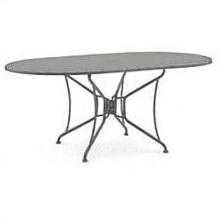 Woodard Briarwood Oval Umbrella Bar Table; Textured Black WYF078275580183