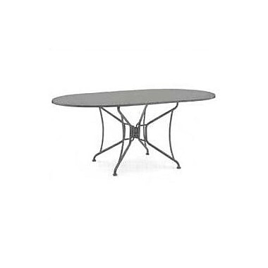 Woodard Briarwood Oval Umbrella Bar Table; Textured Black