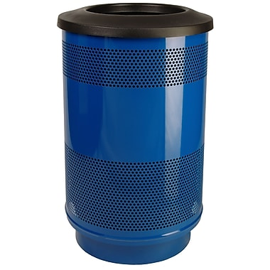 Witt Stadium Series Perforated Metal 55 Gallon Trash Can; Evergreen