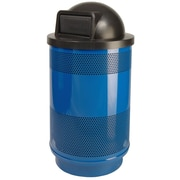 Witt Stadium Series Perforated Metal 55 Gallon Swing Top Trash Can; Post Office Blue II