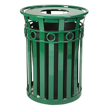 Witt Oakley Series SMB Receptacle 36 Gallon Trash Can; Green