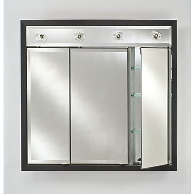 Afina Signature 34'' x 34'' Recessed Medicine Cabinet w/ Lighting; Brushed Satin Silver
