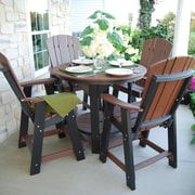Little Cottage Company 5 Piece Dining Table Set; Red/Black