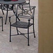 Woodard Delphi Patio Dining Chair; Graphite