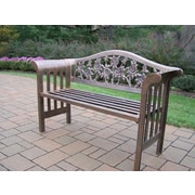 Oakland Living Tea Rose Royal Aluminum Garden Bench