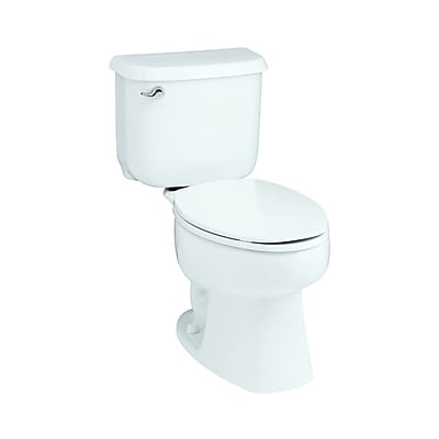 Sterling by Kohler Windham Front 1.6 GPF Round 2 Piece Toilet; White