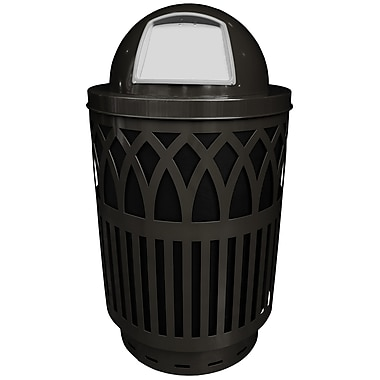 Witt Covington 40 Gallon Swing Top Trash Can; Black