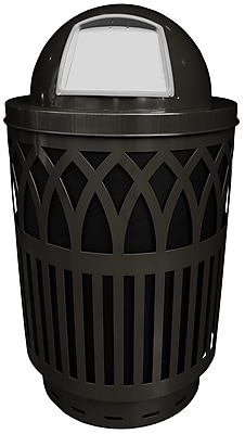 Witt Covington 40 Gallon Swing Top Trash Can; Silvadillo