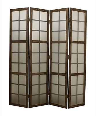 Screen Gems 71'' x 71'' Eglomise 4 Panel Room Divider