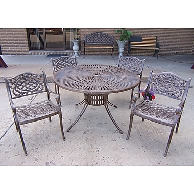 Oakland Living Sunray Mississippi 5 Piece Dining Set; Antique Bronze