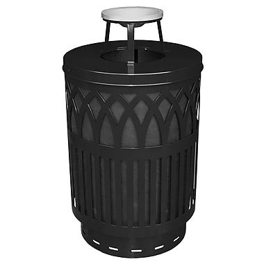 Witt Covington Receptacle 40 Gallon Trash Can; Silvadillo