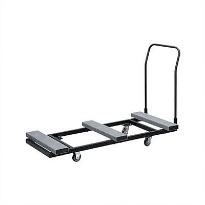 Buffet Enhancements 74'' x 37'' x 32'' Rectangular Folding Table Dolly