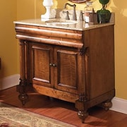 Kaco Guild Hall 36'' Distressed Bathroom Vanity Base; Distressed Pecan