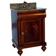 Kaco John Adams 24'' Single Bathroom Vanity Set; Black Granite