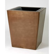 Allied Molded Products St. Louis 30-Gal Hide-A-Butt Receptacle Waste Basket; Dove Gray