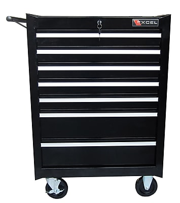 Excel 26.8''W 7-Drawer Tool Chest; Black