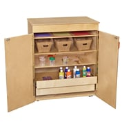 Wood Designs 5 Compartment Classroom Cabinet w/ Casters