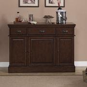 American Heritage Gabriella Bar Cabinet w/ Wine Storage