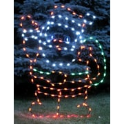 Queens of Christmas Waving Santa Claus LED Light Christmas Decoration