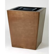 Allied Molded Products St. Louis 30-Gal Receptacle Waste Basket; Dove Gray