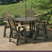 Little Cottage Company 5 Piece Dining Table Set; Weathered Wood