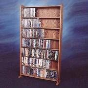 Wood Shed 700 Series 399 DVD Multimedia Storage Rack; Clear
