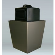 Allied Molded Products St. Louis 50-Gal Side Opening w/ Hide-A-Butt Industrial Recycling Bin; Plum