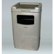 Allied Molded Products Biscayne 60-Gal Food Court Industrial Trash Bin; Pure White