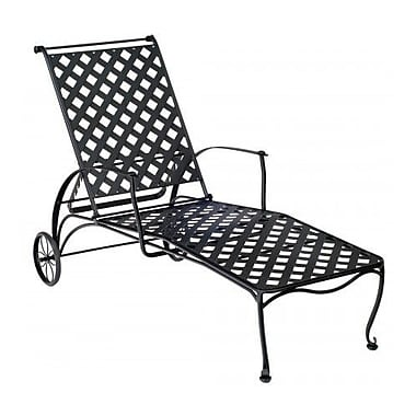 Woodard Maddox Reclining Chaise Lounge; Graphite