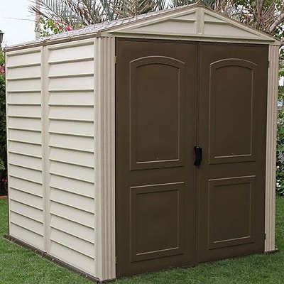 Duramax StoreMate 6 ft. 2 in. W x 6 ft. 2 in. D Plastic Storage Shed
