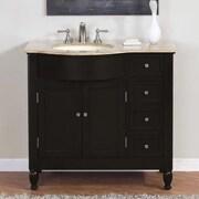 Silkroad Exclusive Hamilton 38'' Single Bathroom Vanity Set; Right